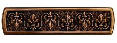 Notting Hill NHP-660-AC, Fleur-De-Lis Pull in Antique Copper, Olde World