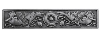 Notting Hill NHP-675-AP, Poppy Pull in Antique Pewter, English Garden