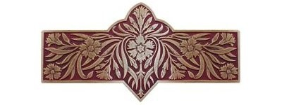 Notting Hill NHP-678-AB-A, Dianthus Pull in Antique Brass/Cayenne, English Garden
