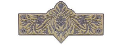 Notting Hill NHP-678-AP-B, Dianthus Pull in Antique Pewter/Saffron, English Garden