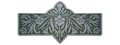 Notting Hill NHP-678-AP-C, Dianthus Pull in Antique Pewter/Sage, English Garden