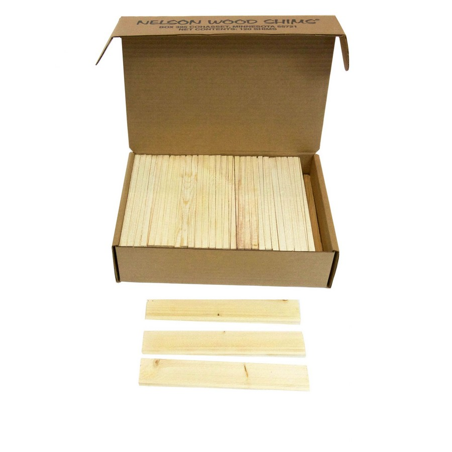 120 Pack Wood Shims, Pine, Nelson PSH8/120/12/16