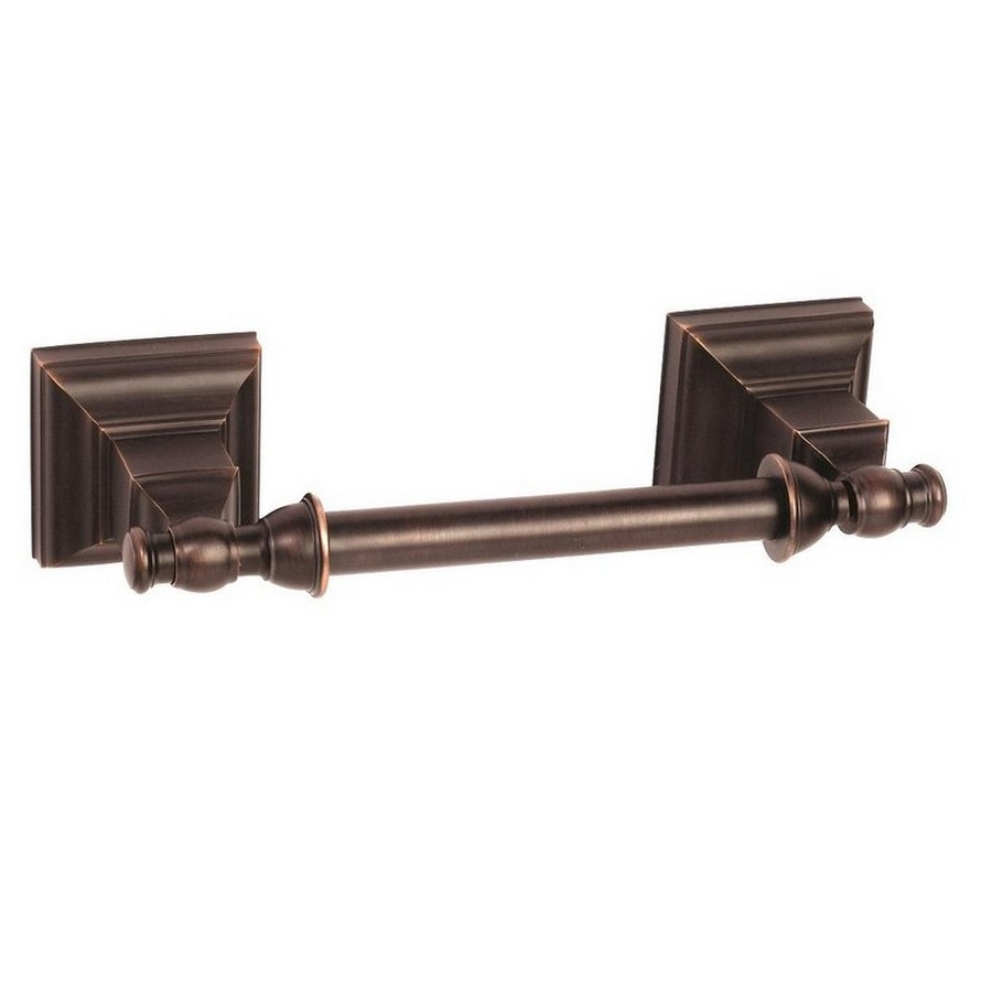 """Markham Double Post Tissue Roll Holder 9-3/16"""" Long Oil Rubbed Bronze Amerock BH26517ORB"""