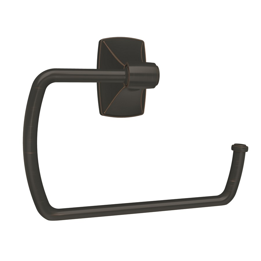 """Clarendon Towel Ring 6-7/8"""" Long Oil Rubbed Bronze Amerock BH26501ORB"""