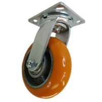 DH Casters C-QS4OPTS, Caster, HD, Swivel, Orange Polyurethane, 4in, 660lb Capacity