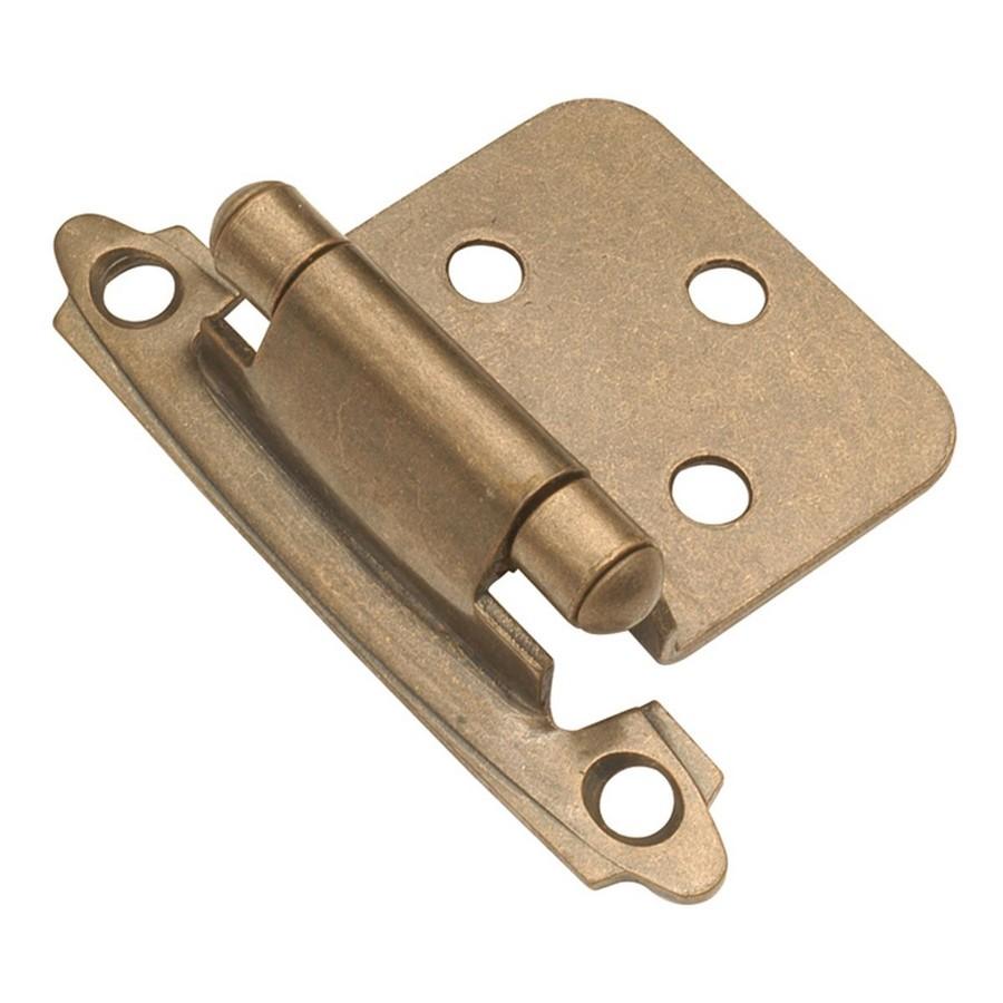 Semi-Concealed Flush Mount Self-Closing Hinge Antique Brass Hickory Hardware P144-AB