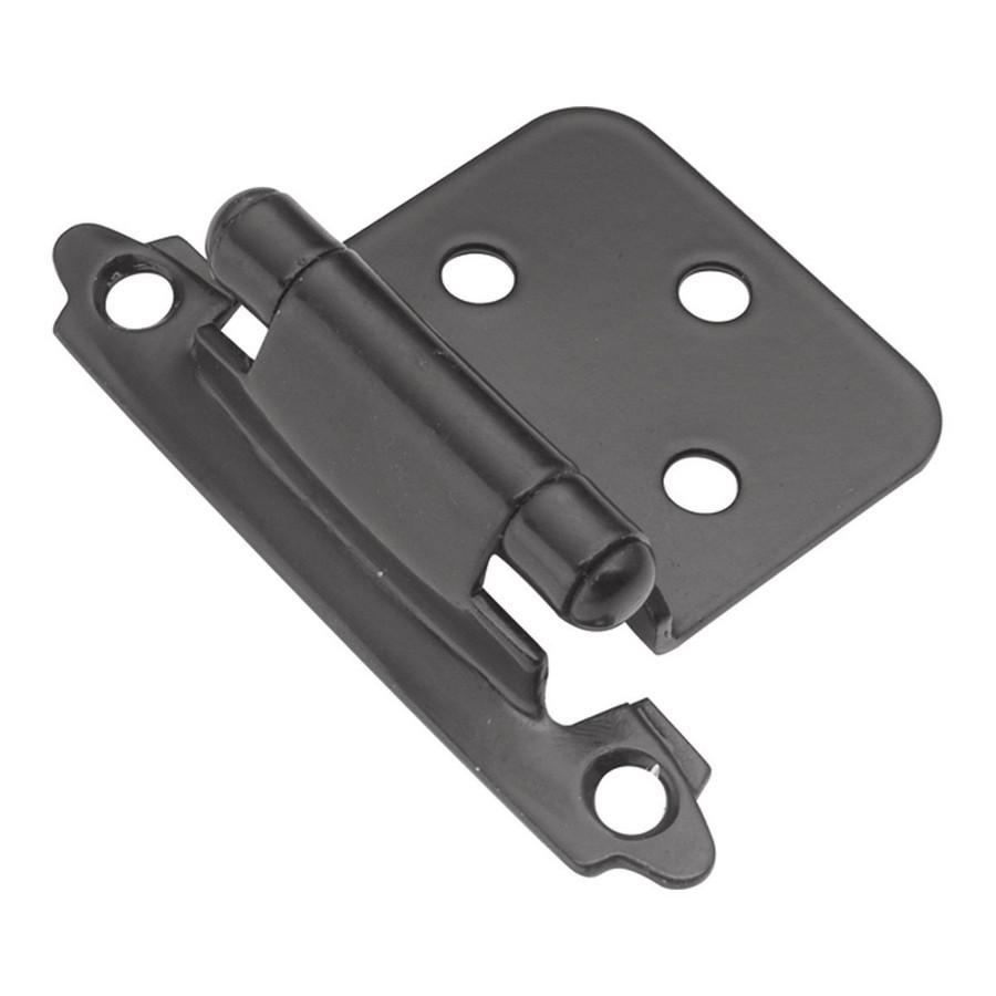 Semi-Concealed Flush Mount Self-Closing Hinge Black Hickory Hardware P144-BL