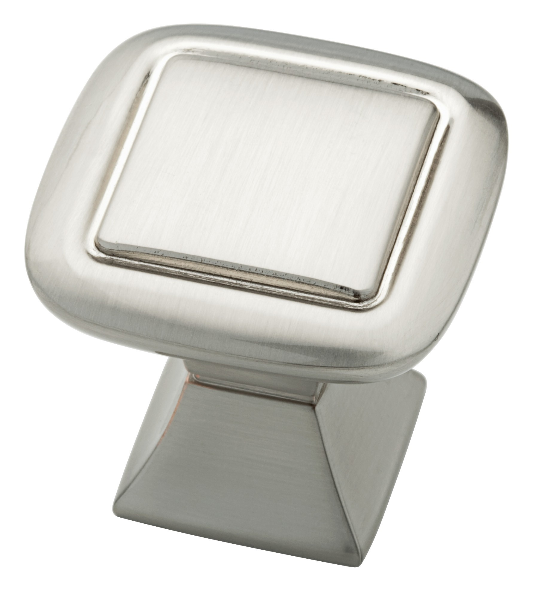 Liberty Hardware P20327-SN-C, 1-1/4 (32mm) Square Knob With Square Base, Zinc Die Cast Knob, Satin Nickel