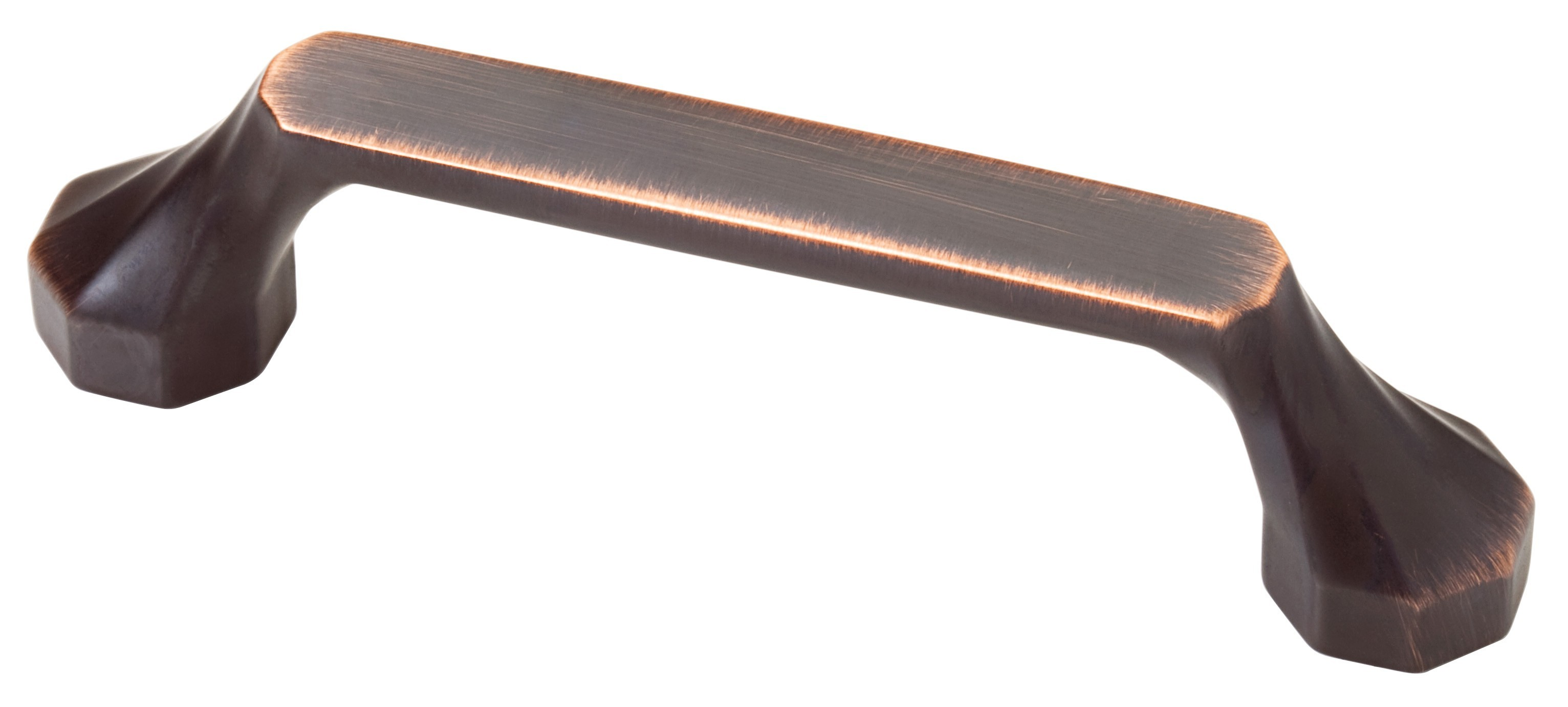 Liberty Hardware P20381-VBC-C, 3in / 96mm Dual Mount Octo Pull, Zinc Die Cast Pull, Bronze With Copper Highlights