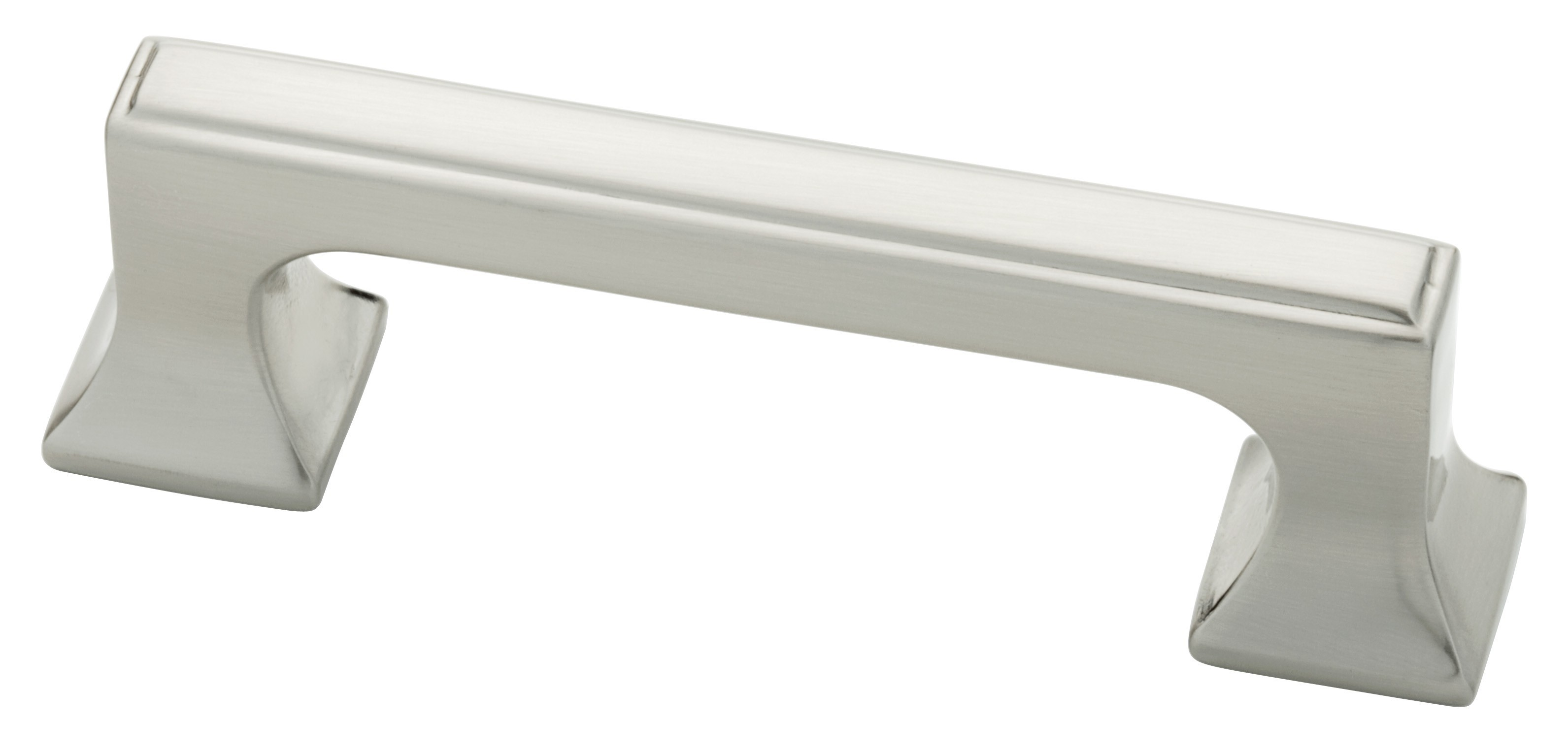 Liberty Hardware P20383-SN-C, 3in Pull With Square Feet, Zinc Die Cast Pull, Satin Nickel