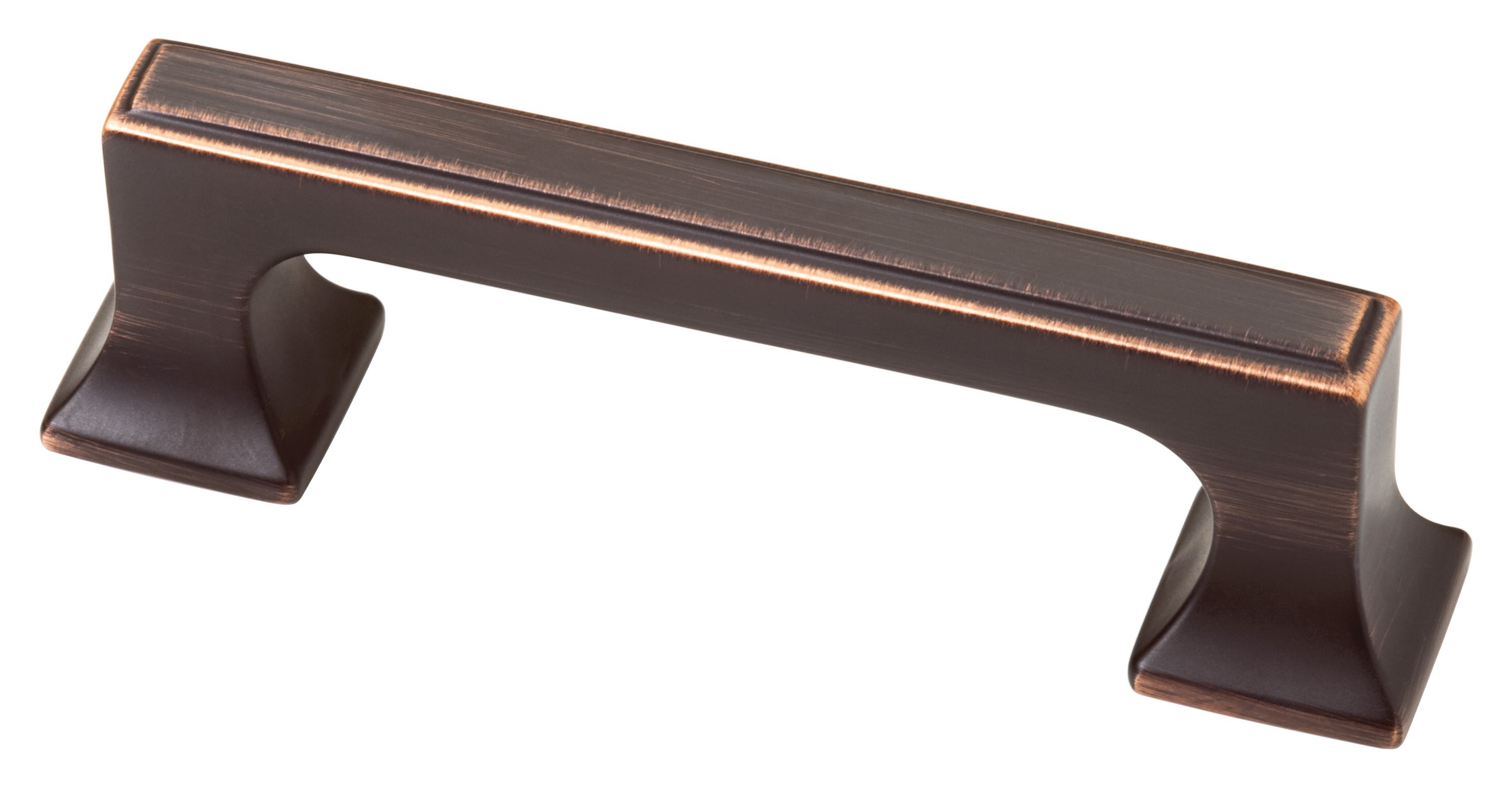 Liberty Hardware P20383-VBC-C, 3in Pull With Square Feet, Zinc Die Cast Pull, Bronze With Copper Highlights