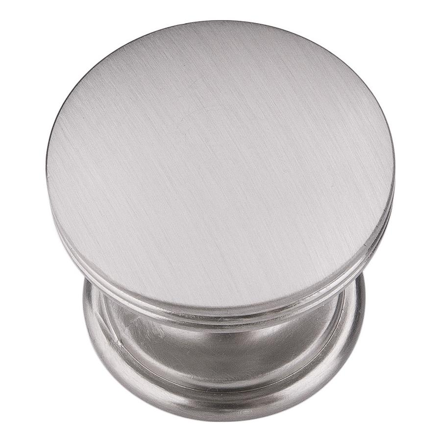 """American Diner Knob 1-3/8"""" Dia Stainless Steel Hickory Hardware P2142-SS"""