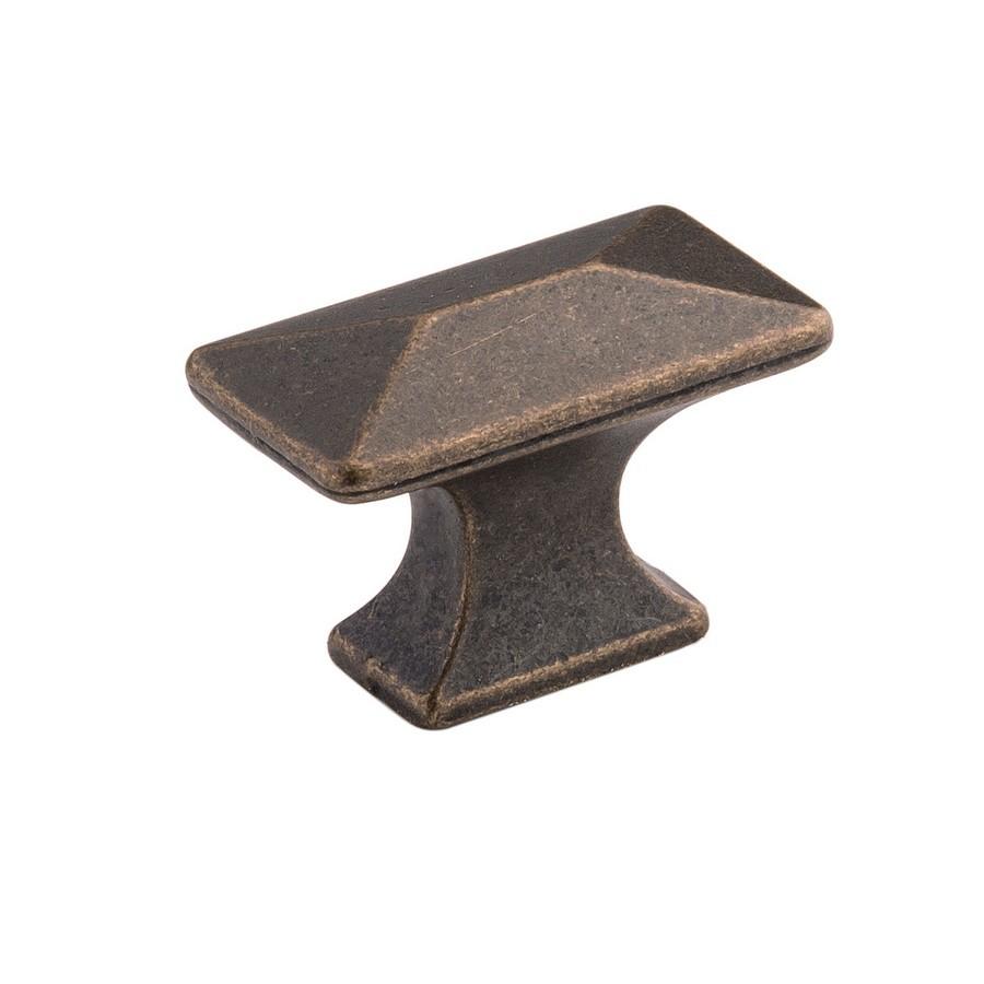 "Bungalow Knob 1-1/4"" Long Windover Antique Hickory Hardware P2150-WOA"