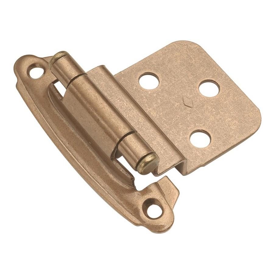 "3/8"" Offset Face Mount Self-Closing Hinge Satin Bronze Hickory Hardware P243-SBZ"