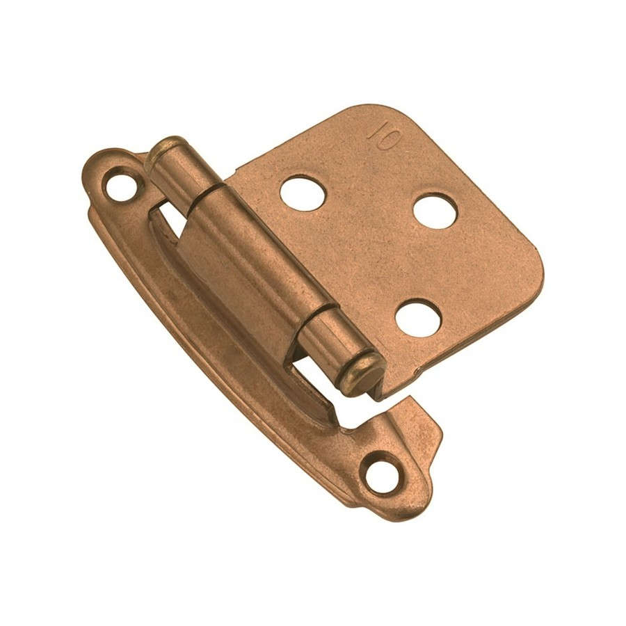 Variable Overlay Face Mount Self-Closing Hinge Satin Bronze Hickory Hardware P244-SBZ
