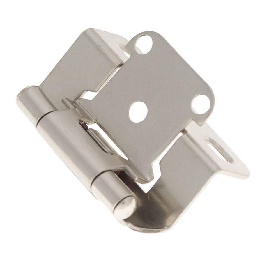 "1/2"" Overlay Partial Wrap Self-Closing Hinge Satin Nickel Hickory Hardware P2710F-SN"