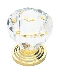 Liberty Hardware P30122-CL-C, Acrylic Faceted Knob, 1-1/4 dia., Clear