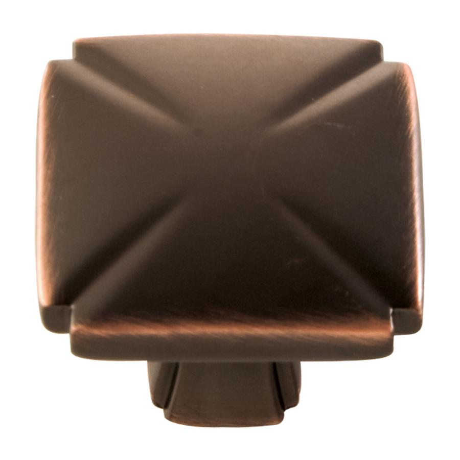 """Bridges Knob 1-3/16"""" Dia Oil-Rubbed Bronze Highlighted Hickory Hardware P3230-OBH"""