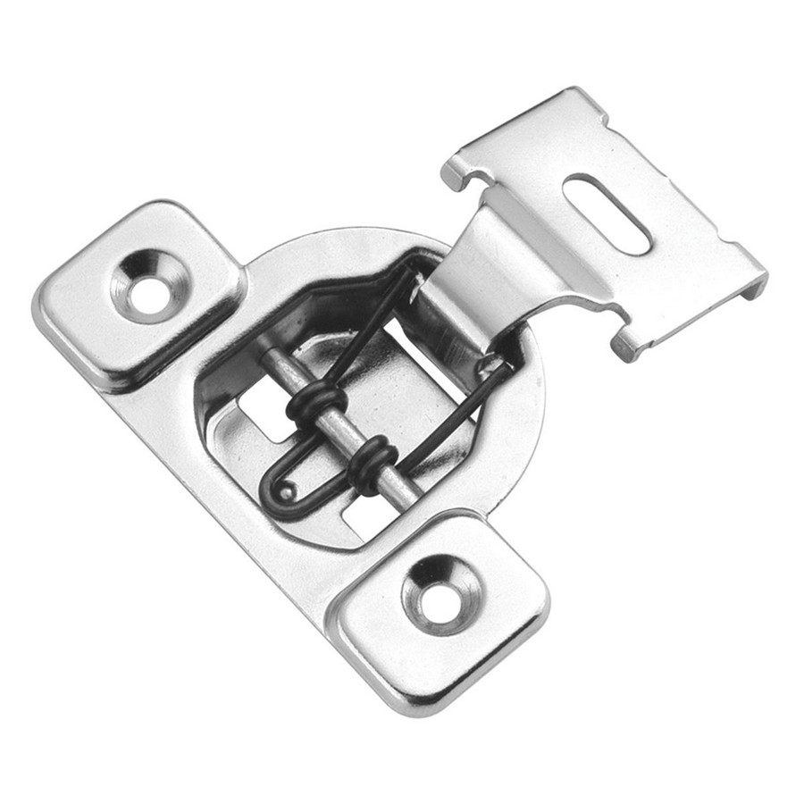 "105° 1/2"" Overlay Self-Closing Face Frame Hinge Polished Nickel Hickory Hardware P5125-14"