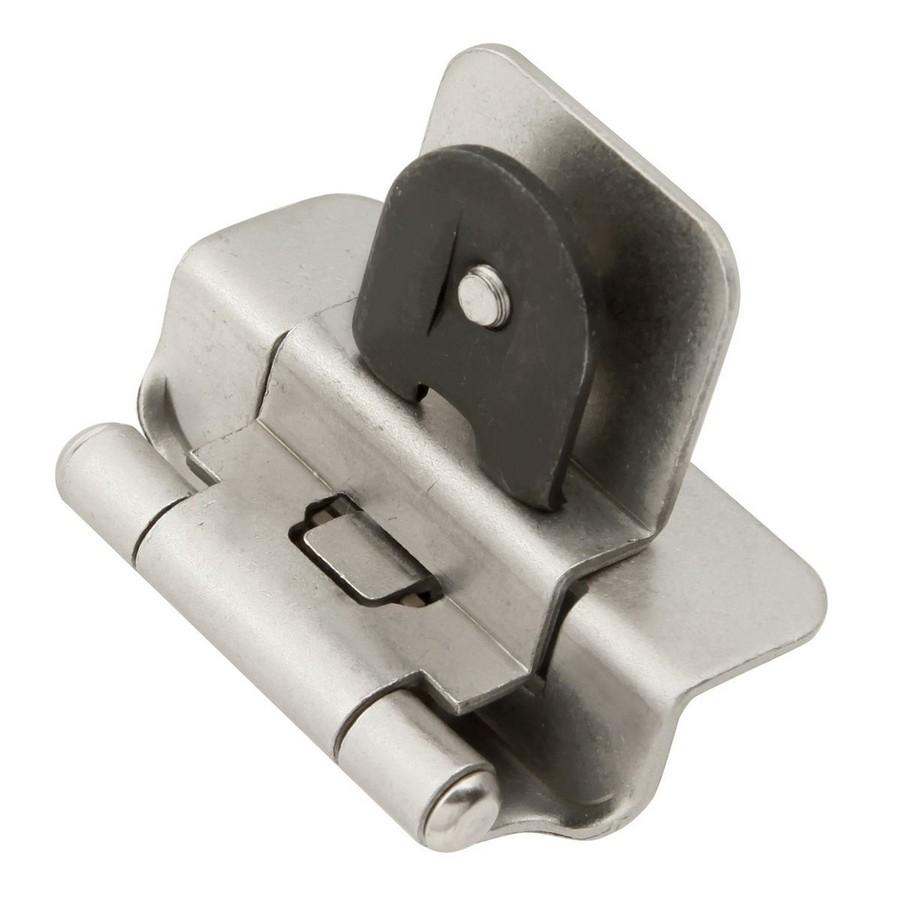 "3/8"" Inset Double Demountable Self-Closing Hinge Satin Nickel Hickory Hardware P5312-SN"