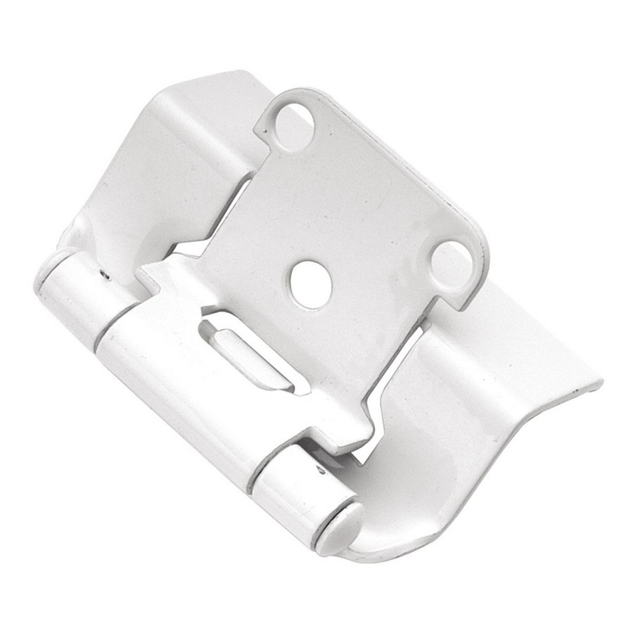 "1/2"" Overlay Full Wrap Self-Closing Hinge White Powder Coat Hickory Hardware P5710F-W2"