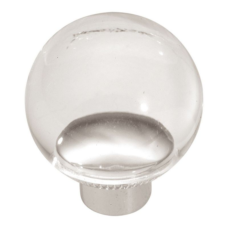 Hickory Hardware P705-LU Modern Knob, dia. 1-1/4, Lucite, Eclectic