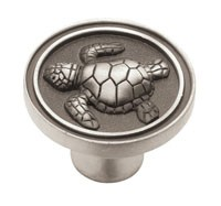 Liberty Hardware PBF656-BSP-C, Knob, Length 1-7/16, Brushed Satin Pewter, Seaside Cottage