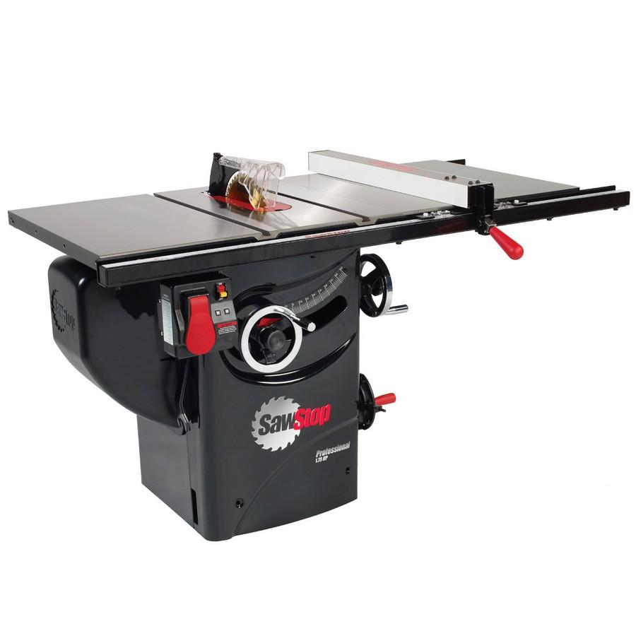 "SawStop Professional Saw, 1.75hp 1ph 110v with 30"" Premium Fence System PCS175-PFA30"