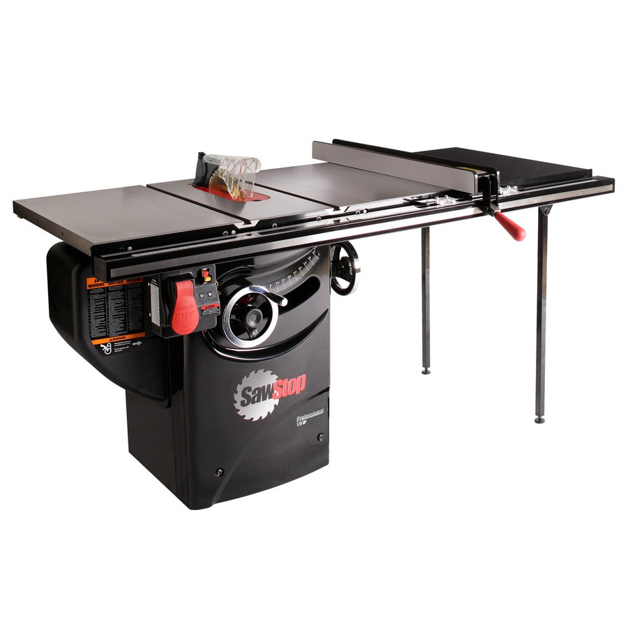 "Sawstop Professional Cabinet Saw, 1.75hp with 36"" Professional T-Glide Fence System PCS175-TGP236"