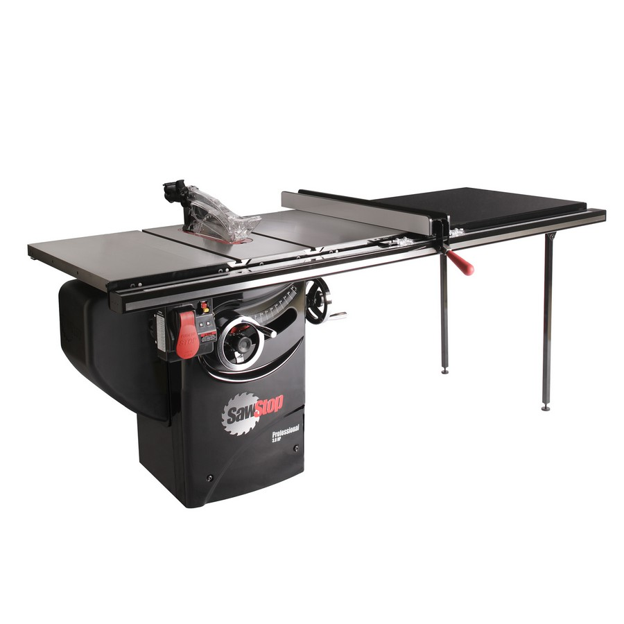 """SawStop Professional Saw, 3hp 1ph 230v with 52"""" Fence System PCS31230-TGP252"""
