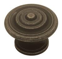 Liberty Hardware PN0407-OB-C, Knob, 1-3/8 dia., Distressed Oil Rubbed Bronze
