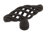 Liberty Hardware PN0528-FB-C, Birdcage Knob, 2in dia., Flat Black