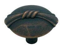 Liberty Hardware PN0609-OB-C, Knob, 1-1/4 dia., Distressed Oil Rubbed Bronze