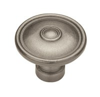 Liberty Hardware PN1310-AP-C, Knob, 1-1/2 dia., Antique Pewter