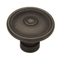 Liberty Hardware PN1310-OB-C, Knob, 1-1/2 dia., Distressed Oil Rubbed Bronze