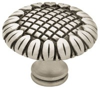 Liberty Hardware PN1738-BSP-C, Knob, 1-1/2 dia., Brushed Satin Pewter