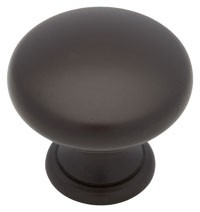Liberty Hardware PN2001-OB3-C, Round Knob, dia. 1-1/4, Dark Oil Rubbed Bronze, Builders Program