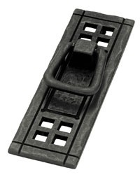 Liberty Hardware PN8006-SAM-A, Bail Pull, Centers 4-7/8 (124mm), Flat Black, Mission