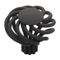 Liberty Hardware PN9010-FB-C, Knob, 1-9/16 dia., Flat Black