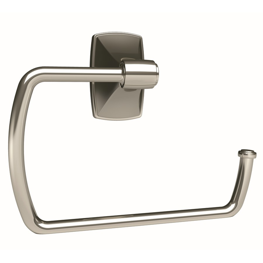 "Clarendon Towel Ring 6-7/8"" Long Polished Nickel Amerock BH26501PN"