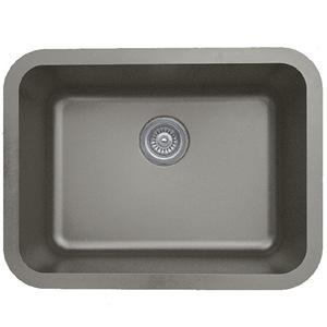 "Karran Q320CONCRETE, 24-1/4"" x 18-1/4"" Quartz Undermount Kitchen Sink Single Bowl, Concrete"