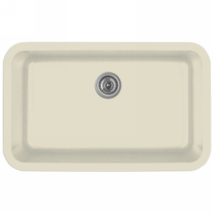 "Karran Q340BISQUE,  30-7/8"" x 18-7/8"" Quartz Undermount Kitchen Sink Extra Large Single Bowl, Bisque"