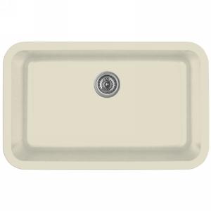 """31"""" Seamless Undermount Large Single Bowl Quartz Kitchen Sink Bisque Karran Q-340-BI"""
