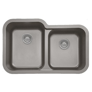 "Karran 360RCONCRETE, 32-1/2"" x 21"" Quartz Undermount Kitchen Sink Extra Large Single Bowl, Concrete"