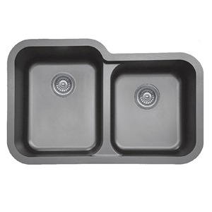 "Karran Q360GREY, 32-1/2"" x 21"" Quartz Undermount Kitchen Sink Extra Large Single Bowl, Grey"