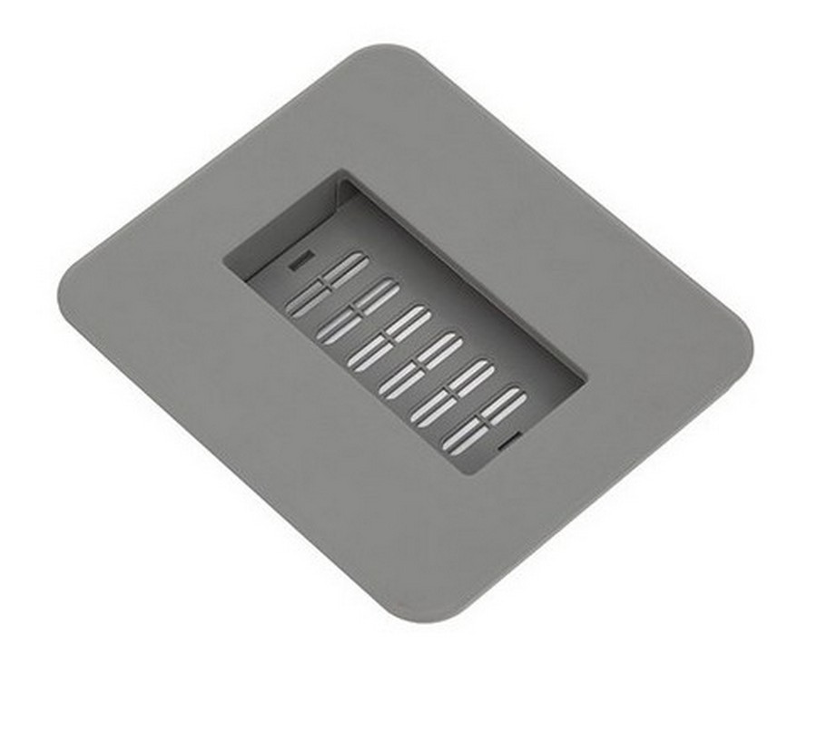 Lid with Filter for 11 Quart Trash Pullout Silver Grey Salice QPCOLSMF
