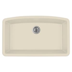 """32"""" Undermount Large Single Bowl Quartz Kitchen Sink Bisque Karran QU-712-BI"""
