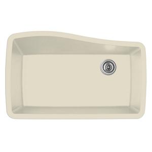 """Karran QU-722 BISQUE, 33-1/2"""" x 21"""" Quartz Undermount Kitchen Sink Single Bowl, Bisque"""