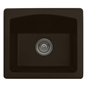 "18"" Dual Mount Quartz Bar/Prep Sink Brown Karran QX-680-BR"