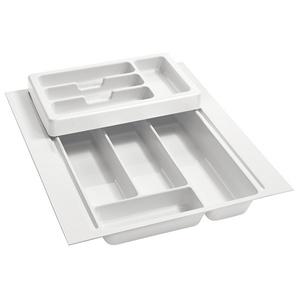 "Half Tier Plastic Cutlery Drawer Insert 17-3/4"" W Glossy White  Rev-A-Shelf RT 14-4H"